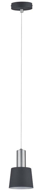 Paulmann Neordic Haldar Pendelleuchte max.1x20W E14 Dunkelgrau/Chrom matt 230V Metall