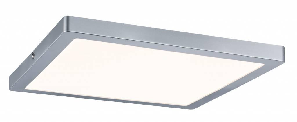 Paulmann WallCeiling Atria LED-Panel 300x300mm 24W Chrom matt 230V Kunststoff