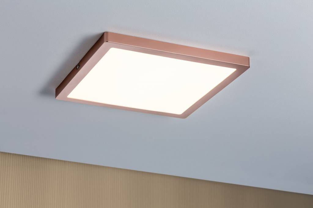 Paulmann WallCeiling Atria LED-Panel 300x300mm 24W Rosegold 230V Kunststoff