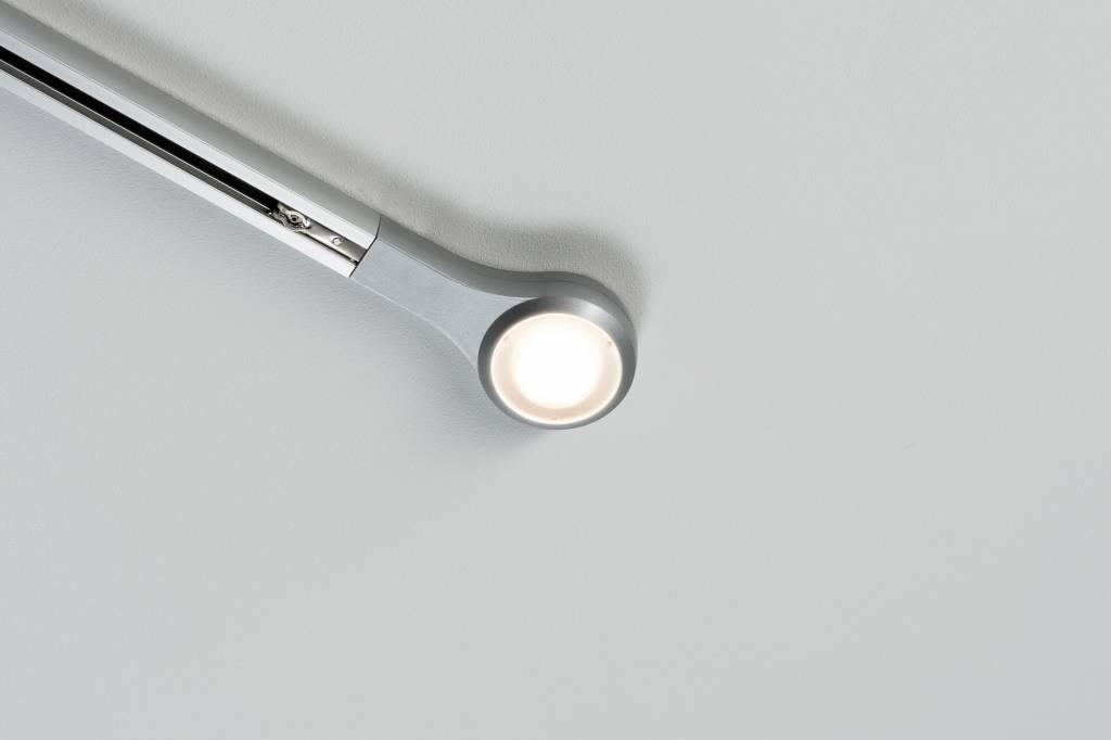 Paulmann URail System LED Endkappe 1x5,8W Chrom matt 230V Metall dimmbar