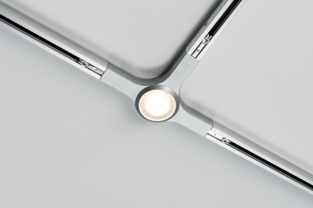 Paulmann URail System LED T-Verbinder 1x5,8W Chrom matt 230V Metall dimmbar