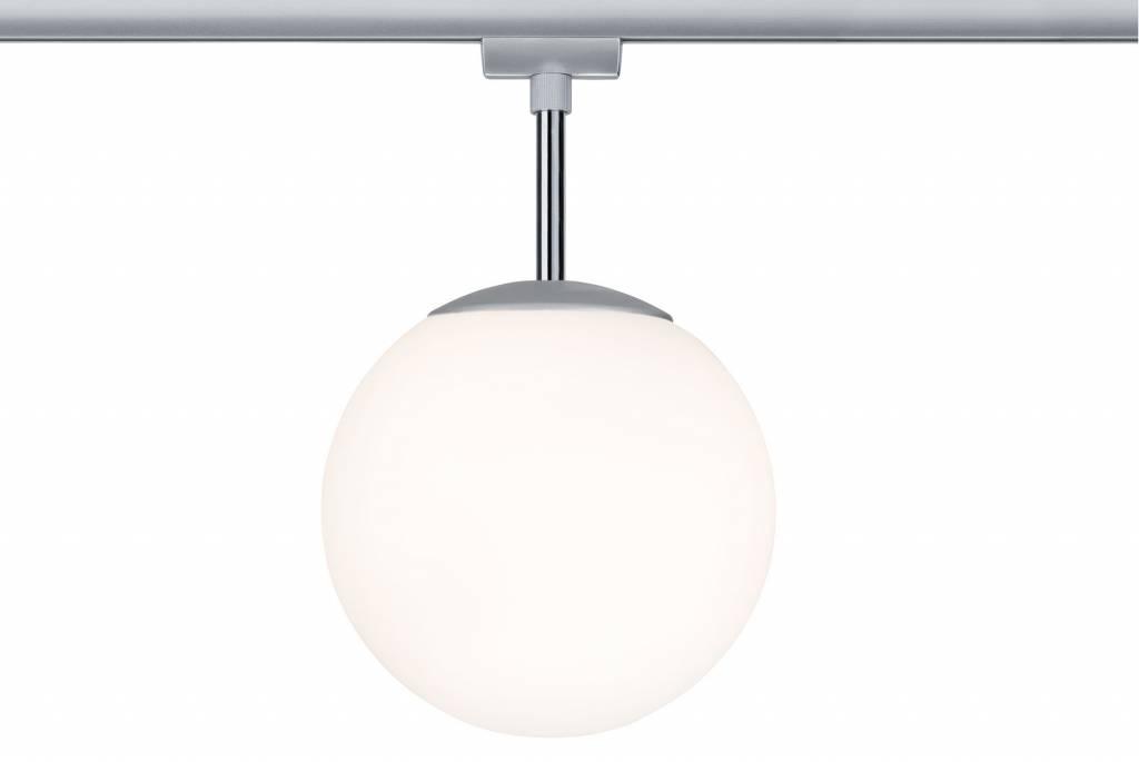 Paulmann URail Ceiling Globe Small max. 1x10W E14 Chr m/Opal 230V Metall/Glas dimmbar