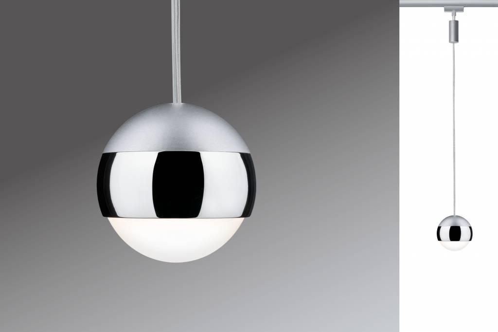 Paulmann URail System LED Pendel Capsule II 1x6W Chrom matt/Chrom 230V Metall dimmbar