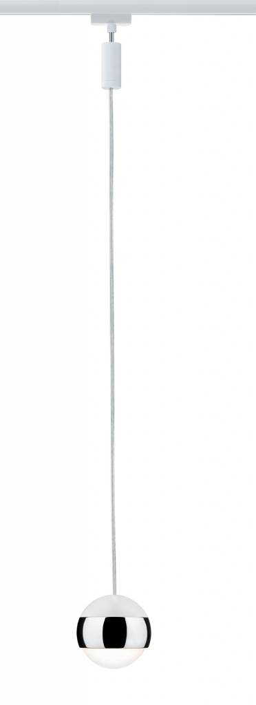 Paulmann URail System LED Pendel Capsule II 1x6W Weiß/Chrom 230V Metall dimmbar