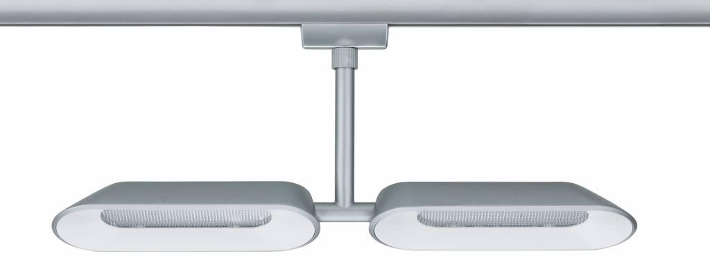 Paulmann URail Systems Spot Dipper 2x8W Chrom matt/Weiß 230V Metall dimmbar