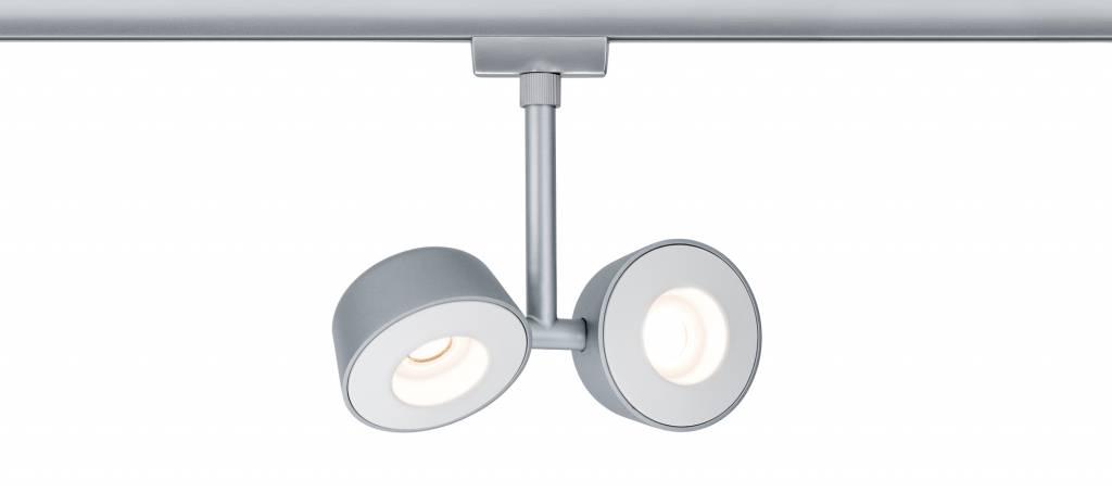 Paulmann URail Systems Spot Double Pellet 2x4W Chrom matt/Weiß 230V Metall dimmbar