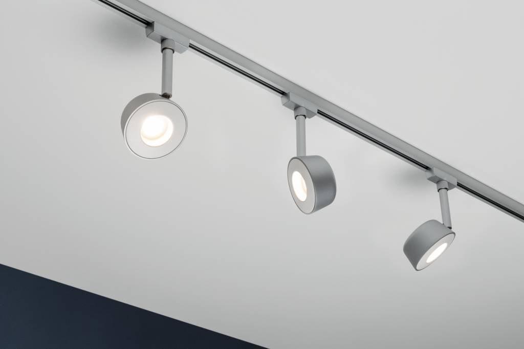 Paulmann URail Systems Spot Pellet 1x4W Chrom matt/Weiß 230V Metall dimmbar