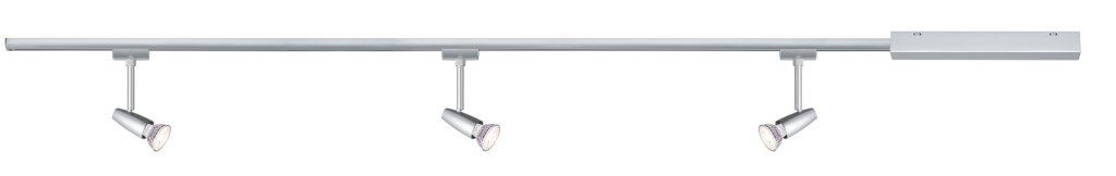 Paulmann URail Set Barelli max 3x10W GU10 Chrom matt/Chrom 230V Metall 1m