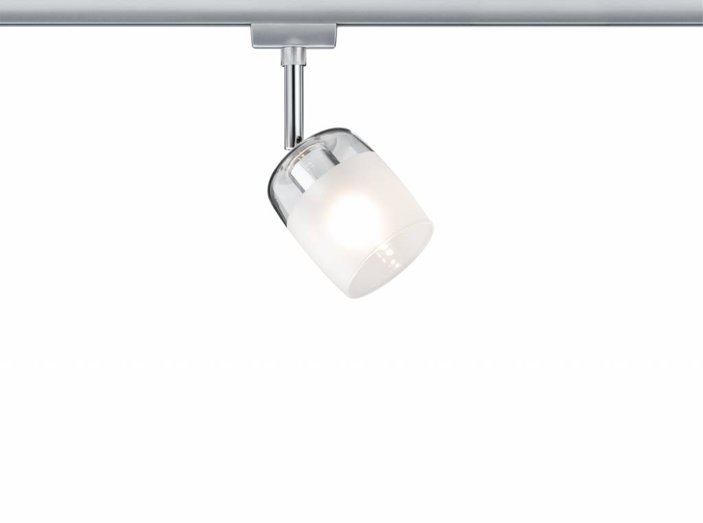 Paulmann URail System Spot Blossom max. 1x10W G9 Chrom matt/Klar/Satin 230V Metall/Glas
