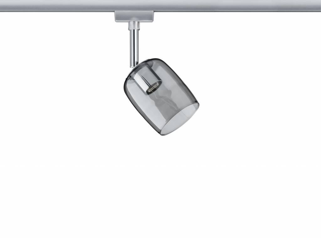 Paulmann URail System Spot Blossom max. 1x10W G9 Chrom matt/Rauchglas 230V Metall/Glas