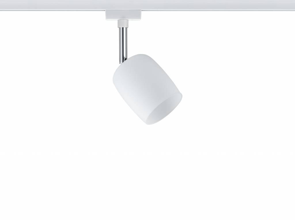 Paulmann URail System Spot Blossom max. 1x10W G9 Weiß/Satin 230V Metall/Glas