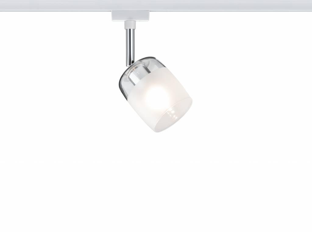 Paulmann URail System Spot Blossom max. 1x10W G9 Weiß/Klar/Satin 230V Metall/Glas