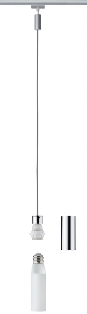 Paulmann Urail 2Easy Basic Pendel max 1x20W E27 Chrom matt/Chrom 230V Metall