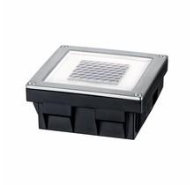 Bodeneinbauleuchten-Set Solar Cube LED Edelstahl, 1er Set