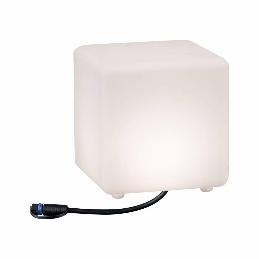 Paulmann Plug & Shine Lichtobjekt Cube IP67 3000K 24V Kantenlänge 20cm