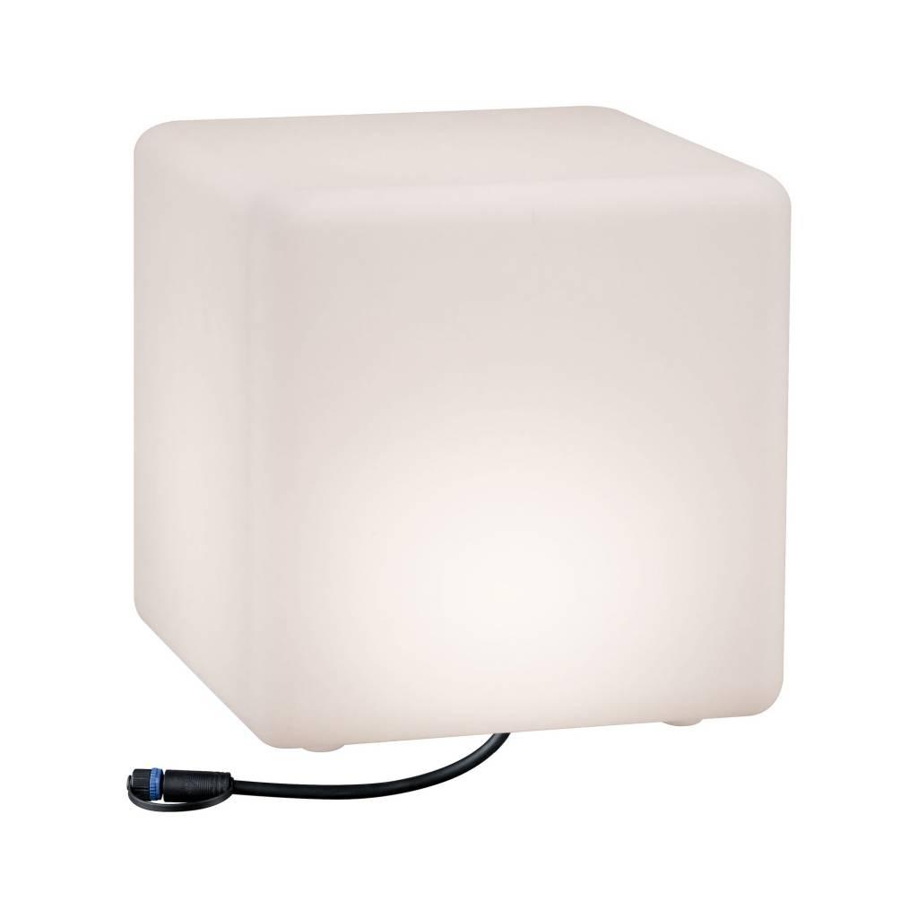Paulmann Plug & Shine Lichtobjekt Cube IP67 3000K 24V Kantenlänge 30cm
