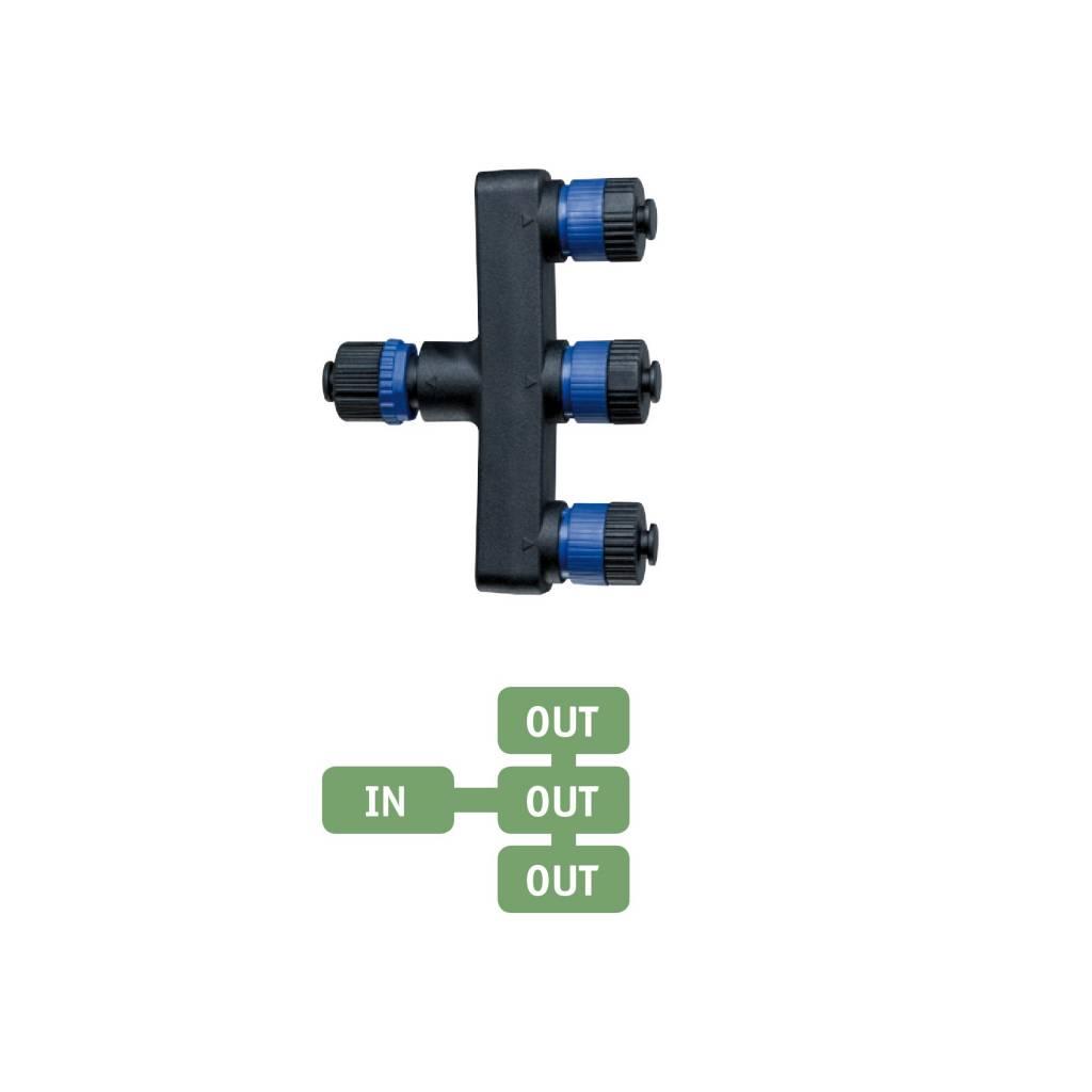 Paulmann  Plug & Shine Verteiler 3-fach IP68 Schwarz