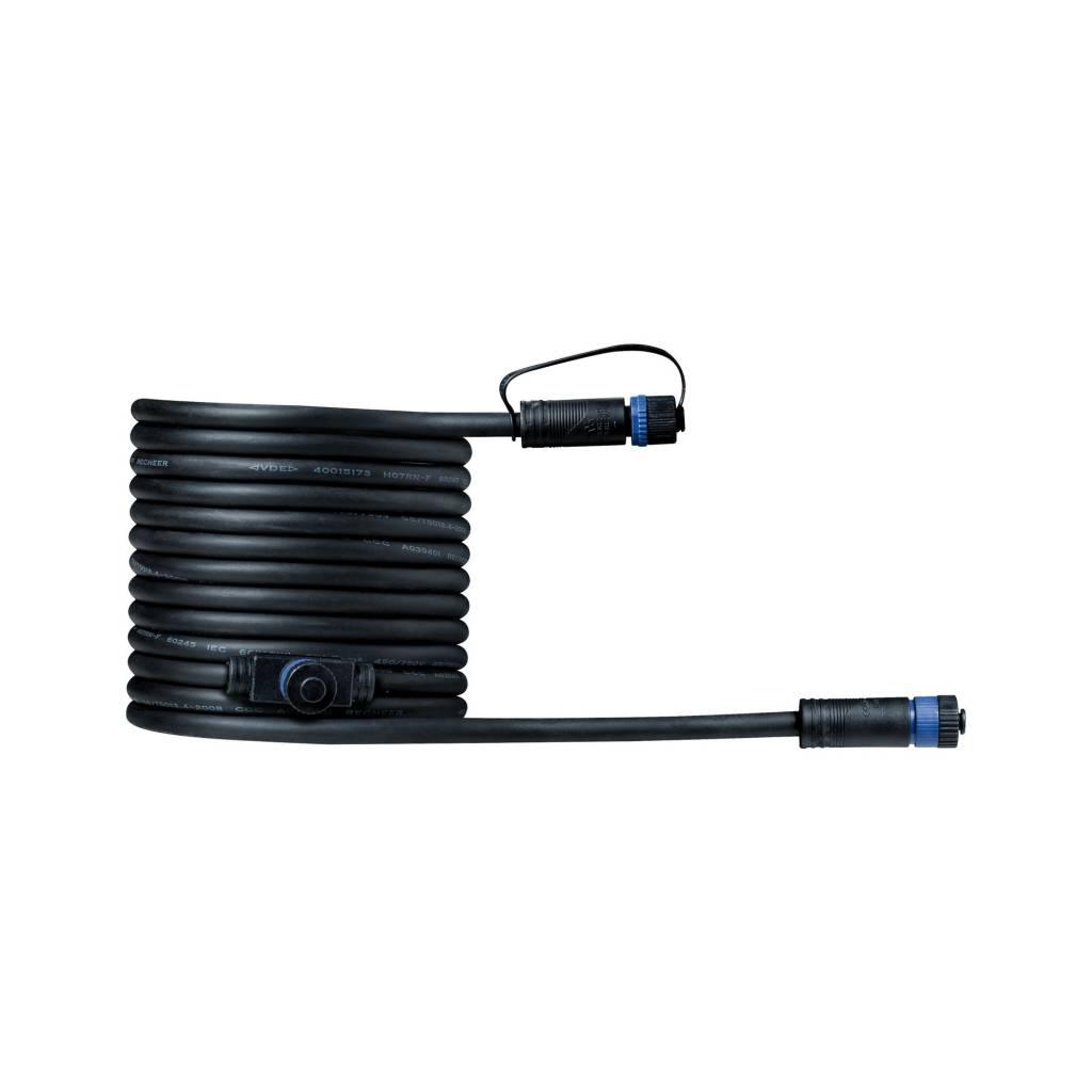 Paulmann Plug & Shine Kabel IP68 5m Schwarz mit zwei Anschlussbuchsen