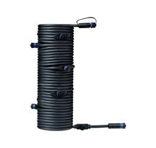 Plug & Shine Kabel IP68 15m Schwarz mit sieben Anschlussbuchsen