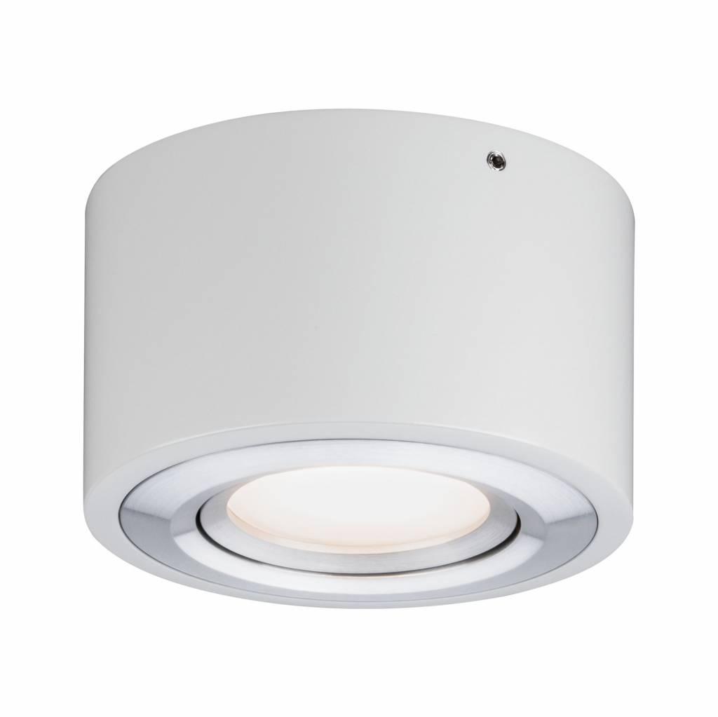Paulmann LED Deckenleuchte Argun 1-flammig 4,8W Weiß matt/Alu gebürstet