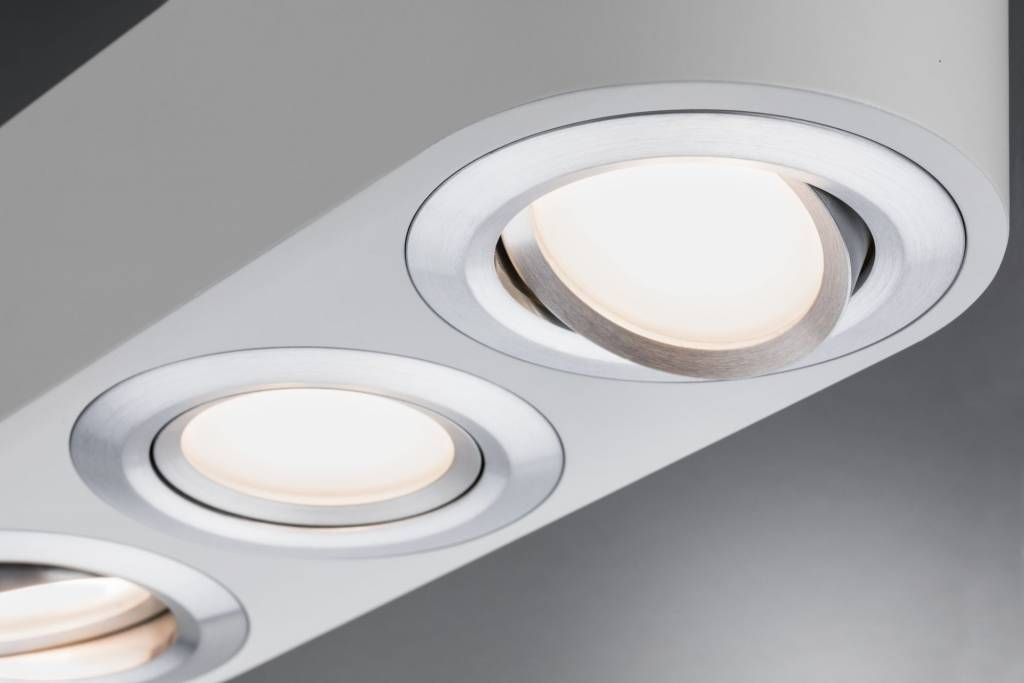 Paulmann LED Deckenleuchte Argun 3-flammig 14,4W Weiß matt/Alu gebürstet