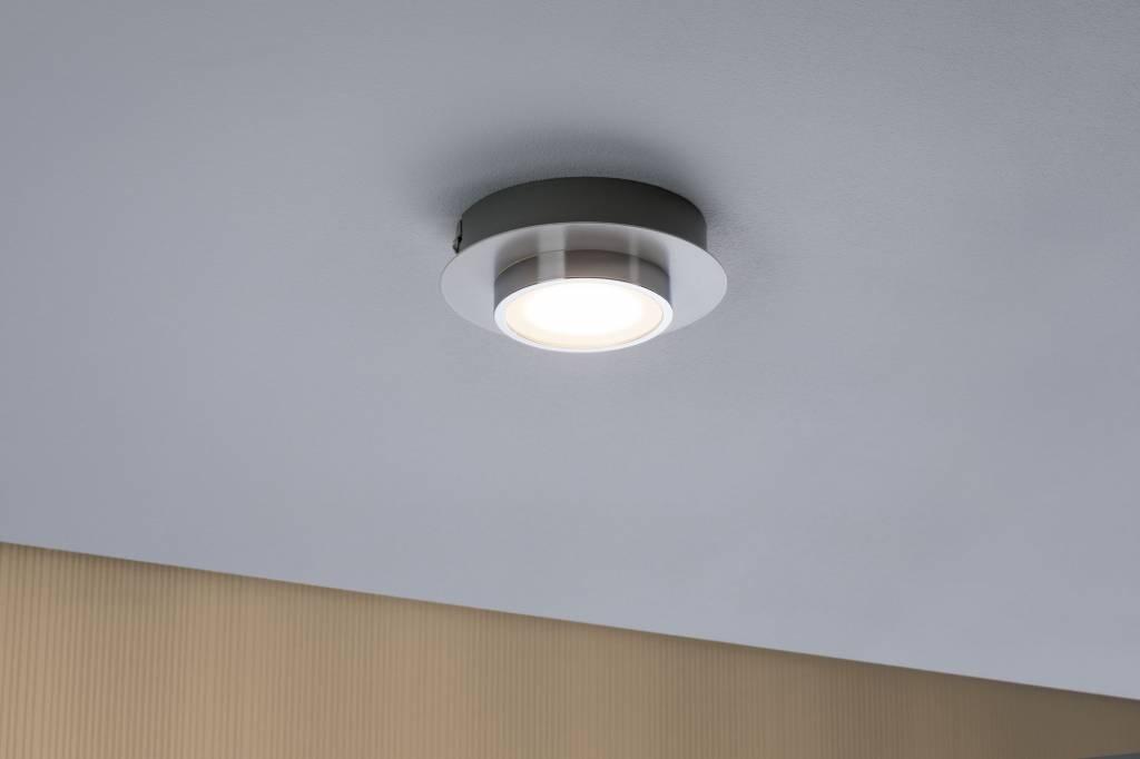 Paulmann LED Deckenleuchte Liao 1-flammig 4,7W Weiß matt/Chrom