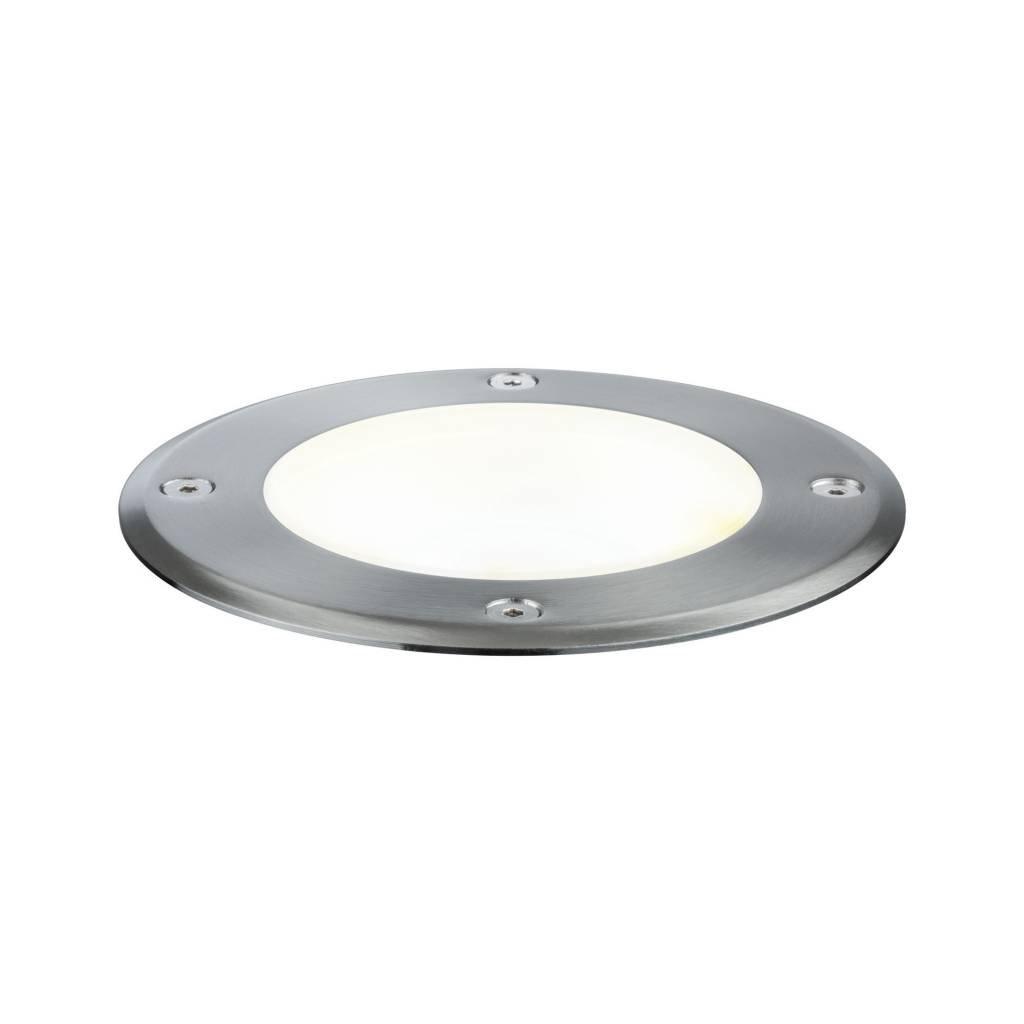 Paulmann Plug & Shine Bodeneinbauleuchte IP67 3000K 20° 6W 24V Silber schwenkbar