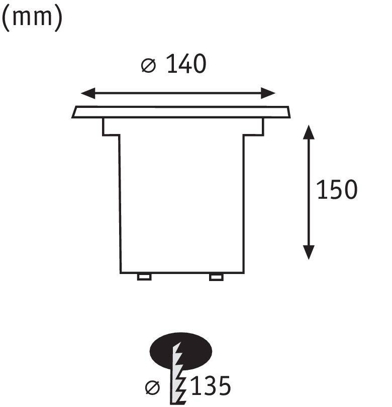 Paulmann Plug & Shine Bodeneinbauleuchte IP67 3000K 38° 6W 24V Silber schwenkbar