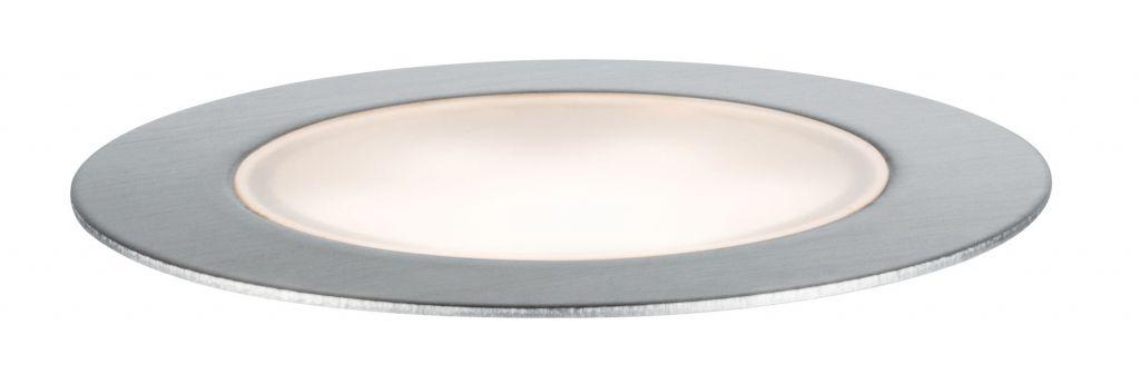 Paulmann Plug & Shine Bodeneinbauleuchte Floor Eco IP65 3000K 3x1W 24V Silber