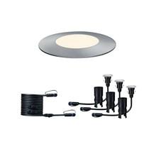 Plug & Shine Bodeneinbauleuchte Floor Mini Set IP65 3000K 3x2,5W 24V Silber