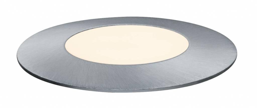 Paulmann Plug & Shine Bodeneinbauleuchte Floor Mini IP65 3000K 2,5W 24V Silber