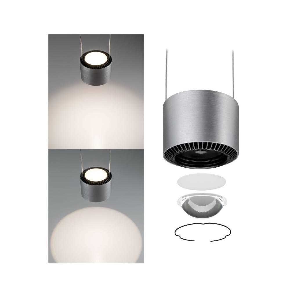 Paulmann LED Pendelleuchte Aldan 3-flammig 3x9W Schwarz/Alu gebürstet dimmbar