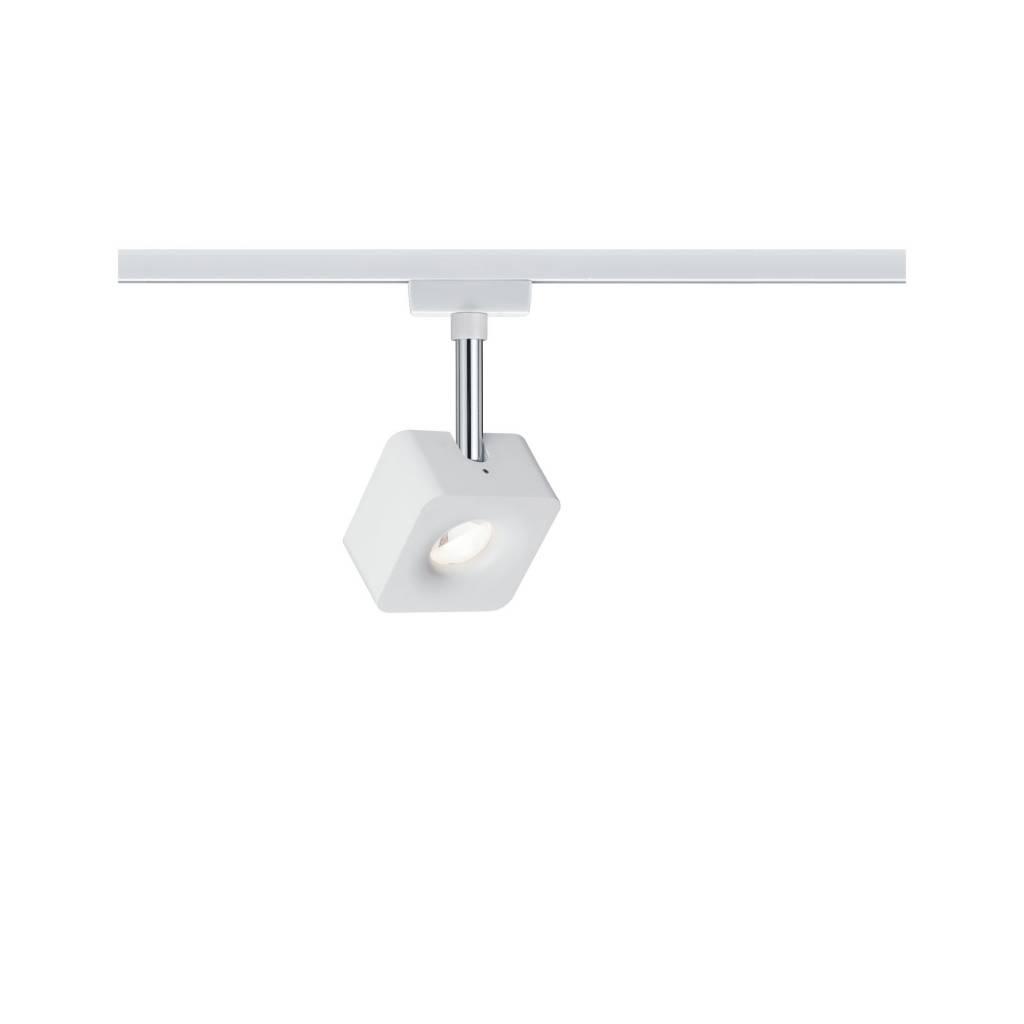Paulmann URail Spot Cube 1x8W Weiß/ Chrom