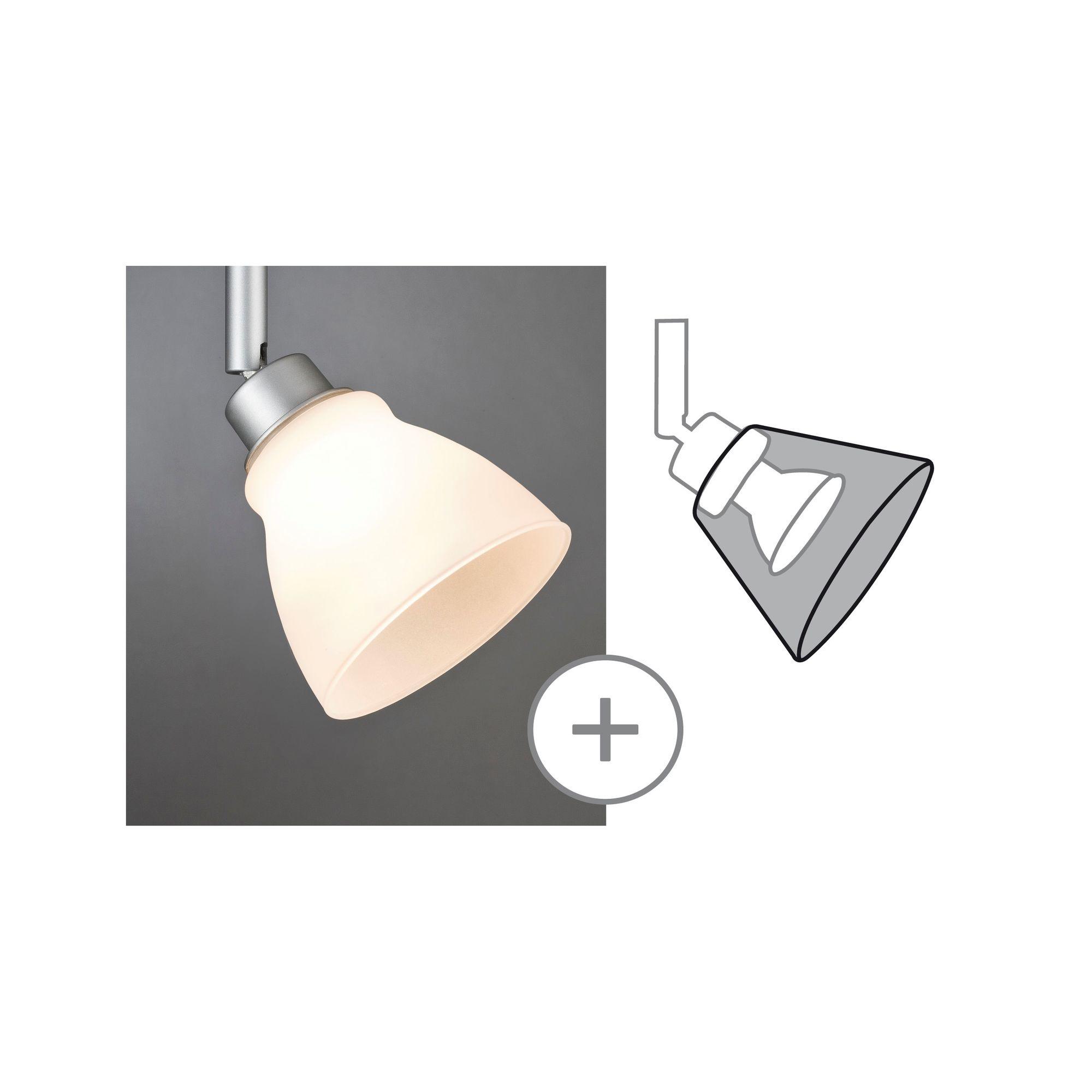 Paulmann DecoSystems Schirm Wolbi max.50W Glas Weiß