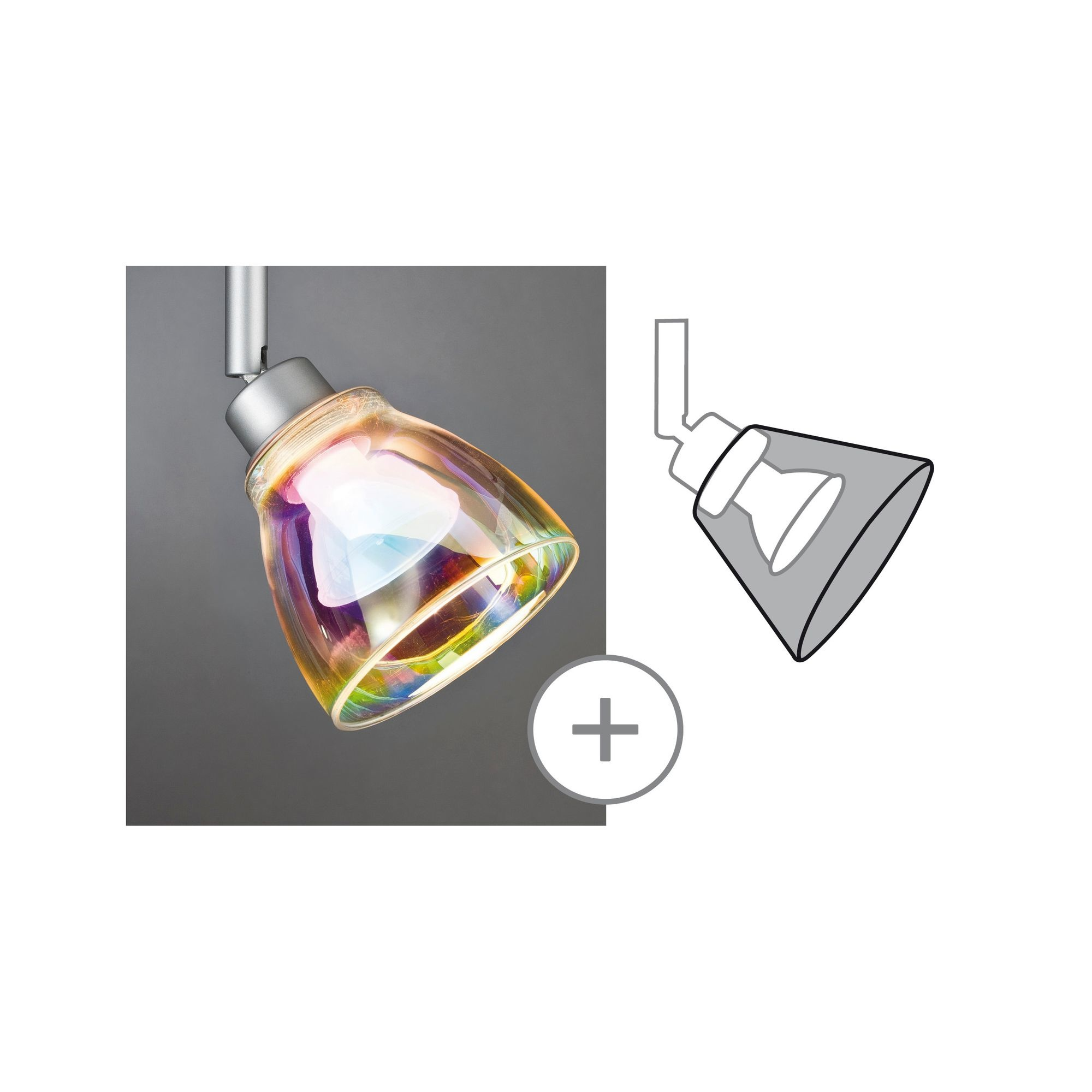 Paulmann DecoSystems Schirm Wolbi max.50W Glas Dichroitic