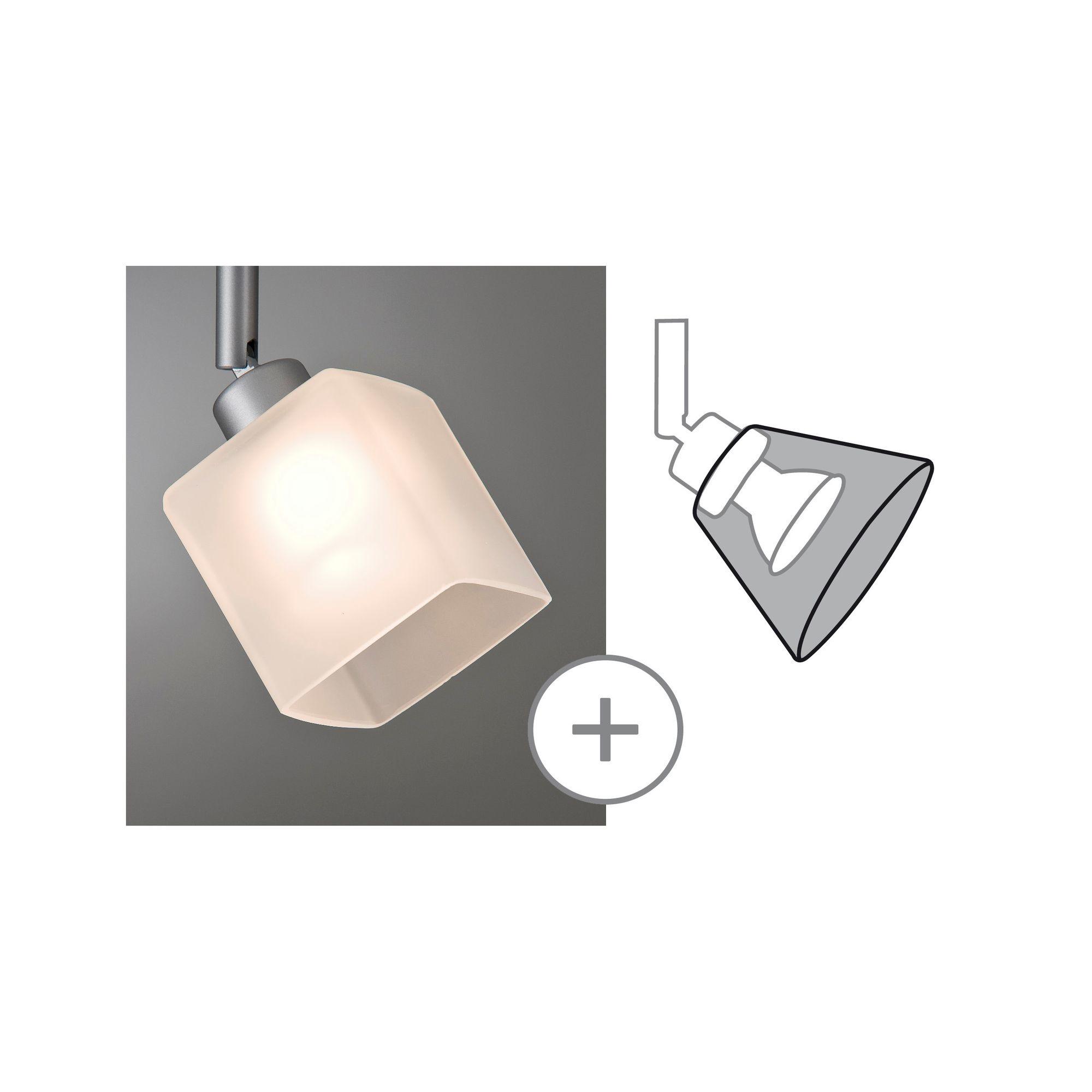 Paulmann DecoSystems Schirm Quad max.50W Glas Weiß