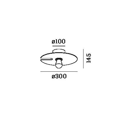 WEVER & DUCRÉ MIRRO WALL/CEIL. 1.0 E27