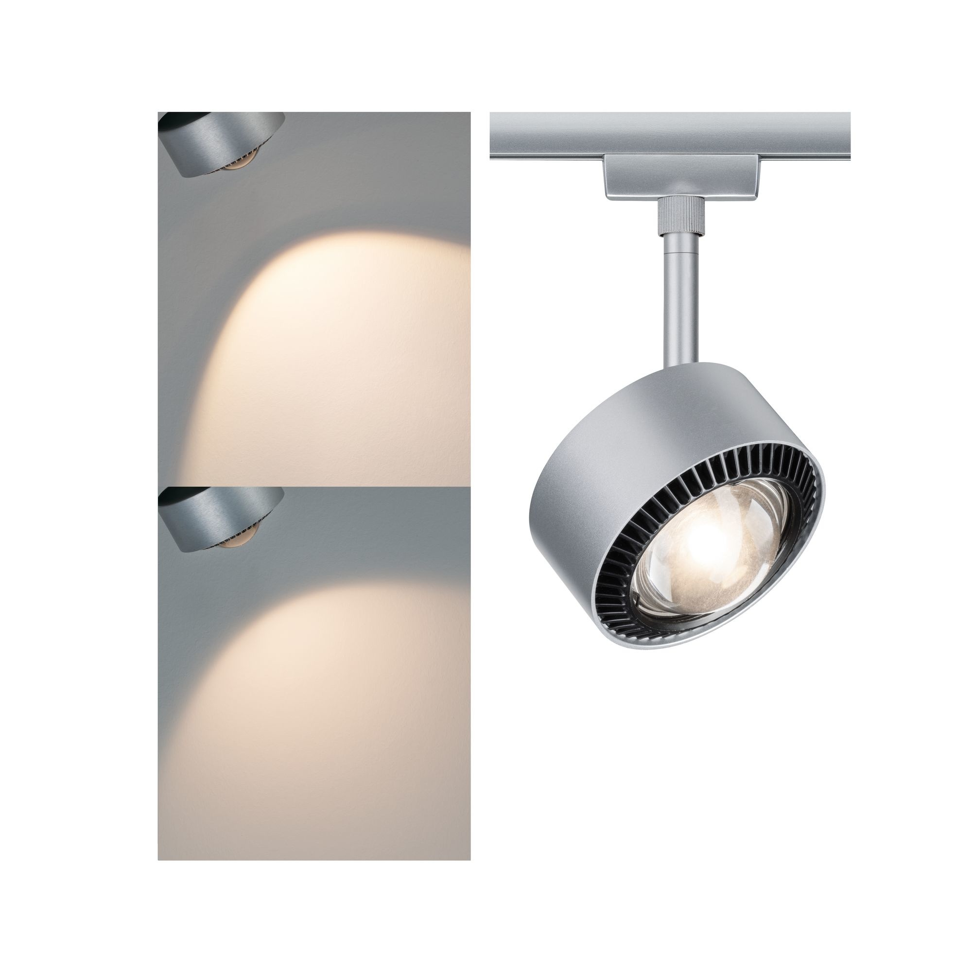 Paulmann URail Spot Aldan 1x9W Chrom matt/Schwarz230V Metall/ Kunststoff dimmbar