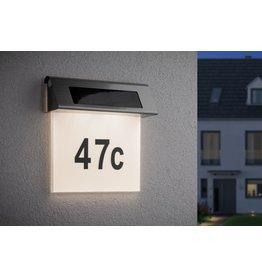Paulmann Special Solar Hausnummernleuchte IP44LED 1x0,2W Edelst./Weiß Edelstahl/Acryl