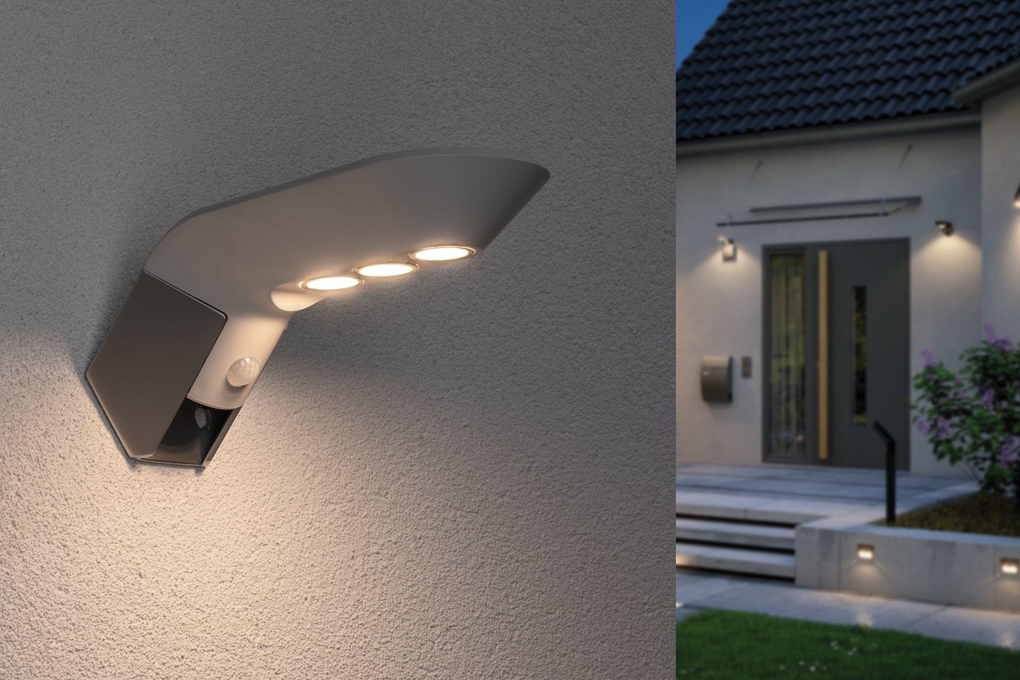 Paulmann Outdoor Solar Wandleuchte Soley IP443000K 100lm Bewegungsmelder Weiß