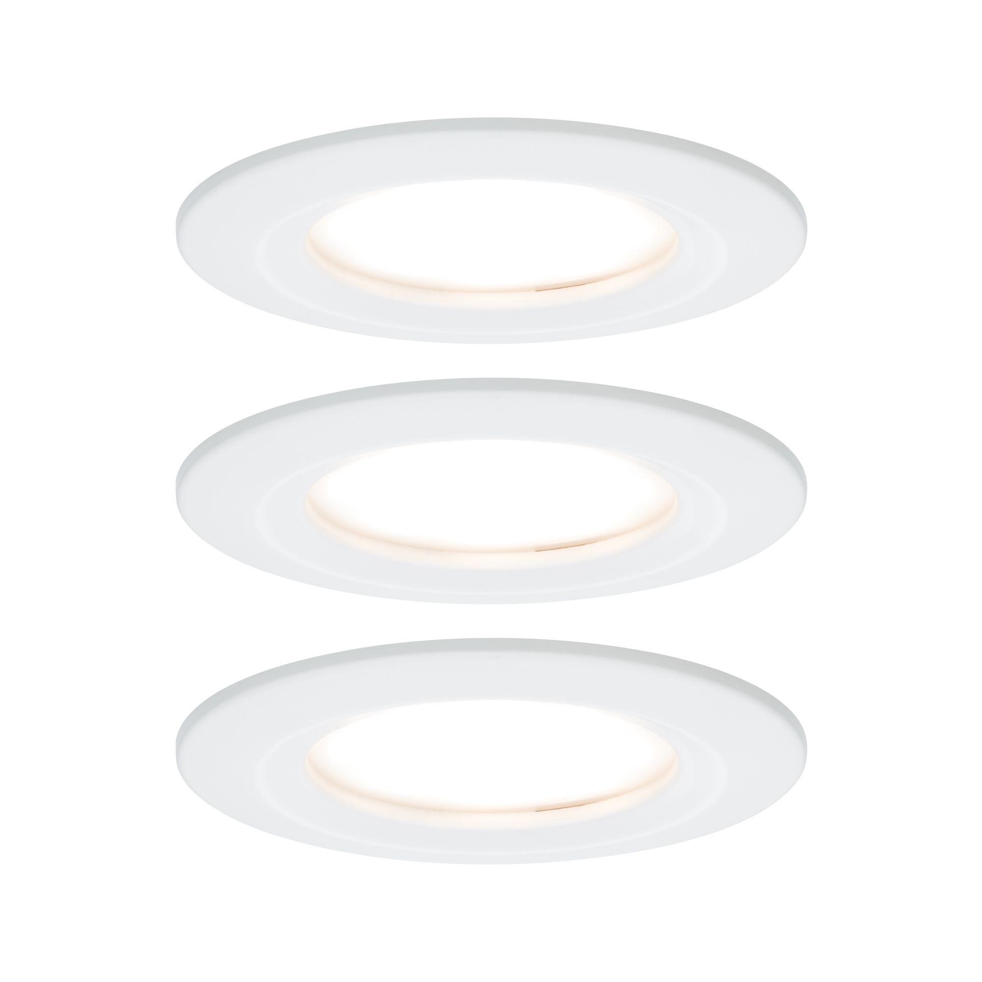Paulmann EBL Set Nova Coin 3-stepdim rd starr LED3x6,5W 2700K 230V Weiß matt/Alu