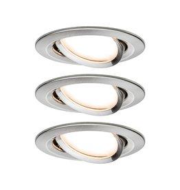 Paulmann EBL Set Nova Coin 3-stepdim rd schw LED3x6,5W 2700K 230V Eisen geb/Alu