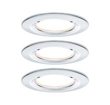 EBL Set Nova rd starr LED IP44 3-stepdim3x6,5W 230V GU10 51mm Chrom/Alu