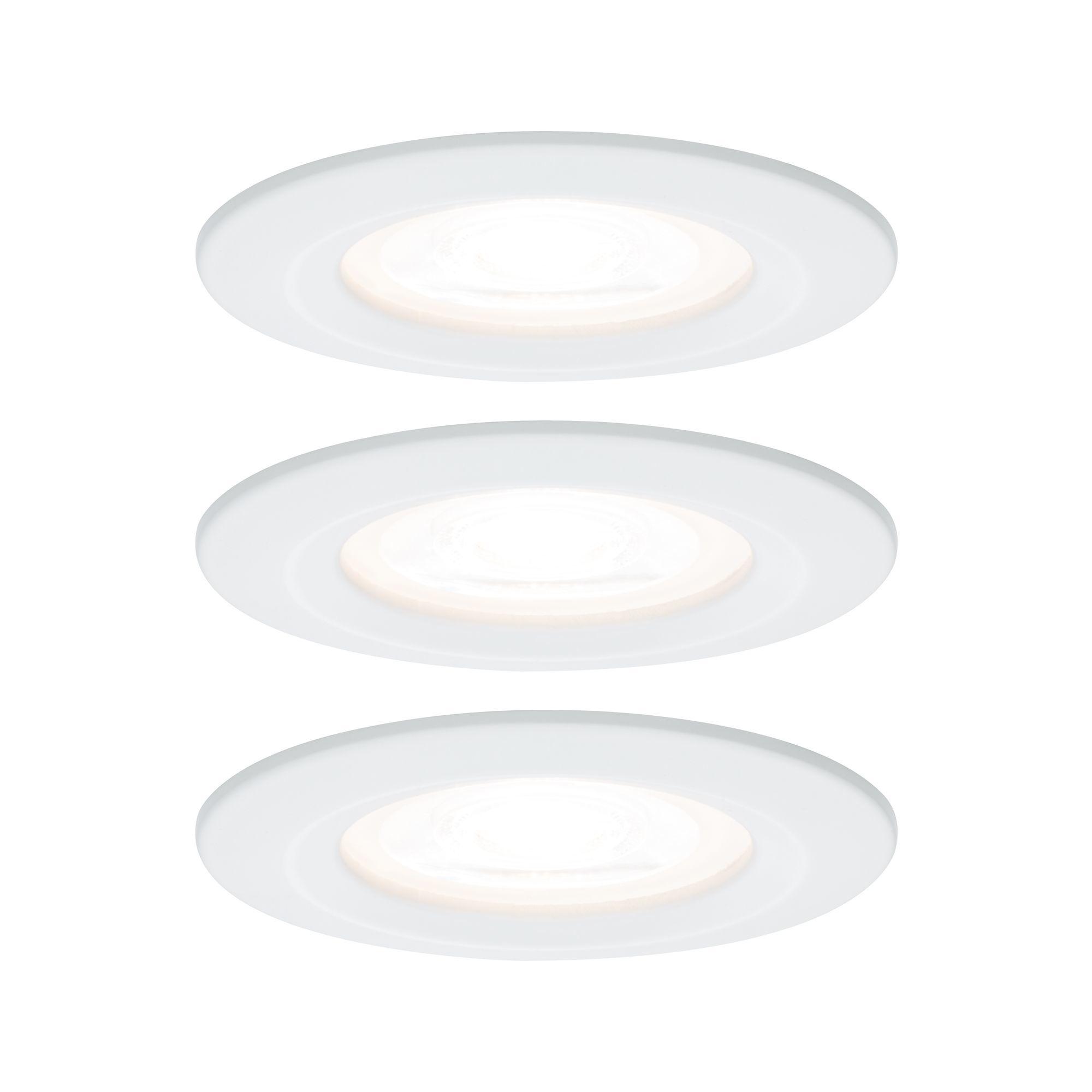 Paulmann EBL Set Nova rd starr LED IP44 3-stepdim3x6,5W 230V GU10 51mm Weiß matt/Alu