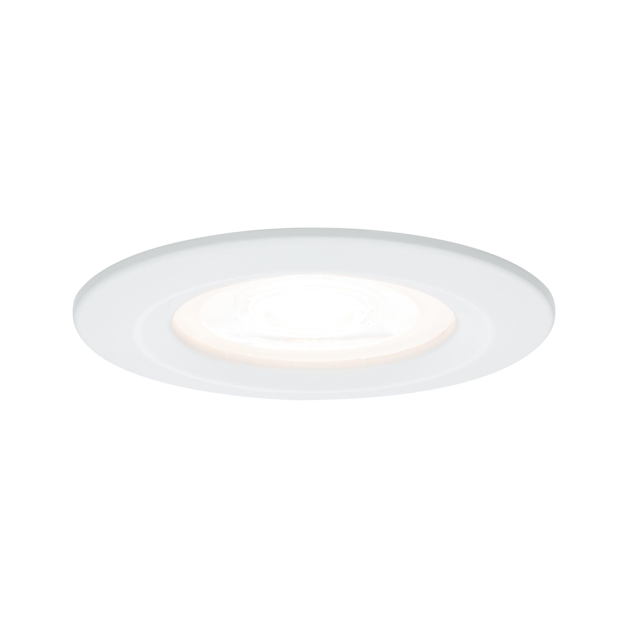 Paulmann EBL Set Nova rd starr LED IP44 3-stepdim1x6,5W 230V GU10 51mm Weiß matt/Alu