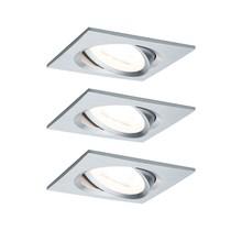EBL Set Nova eckig schw LED 3-stepdim3x6,5W 230V GU10 51mm Alu ged/Alu
