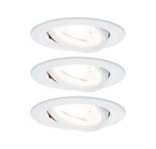 EBL Set Nova rd schw LED 3stepdim 3x6,5W230V GU10 51mm Weiß matt/Alu