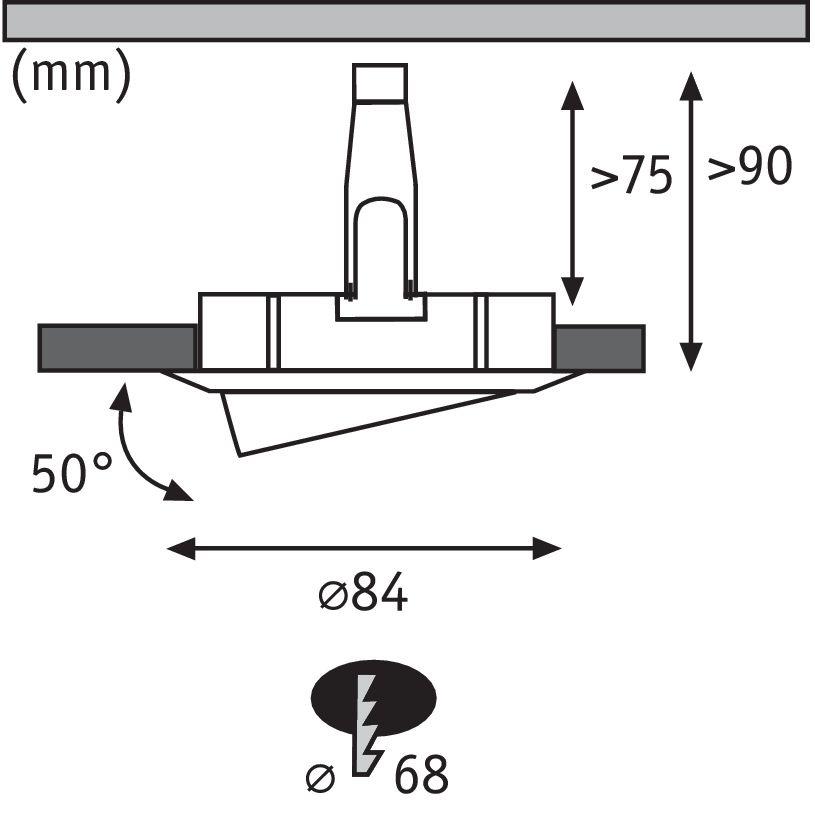 Paulmann EBL Set Nova rd schw LED 3-stepdim 3x6,5W 230V GU10 51mm Eisen geb/Alu