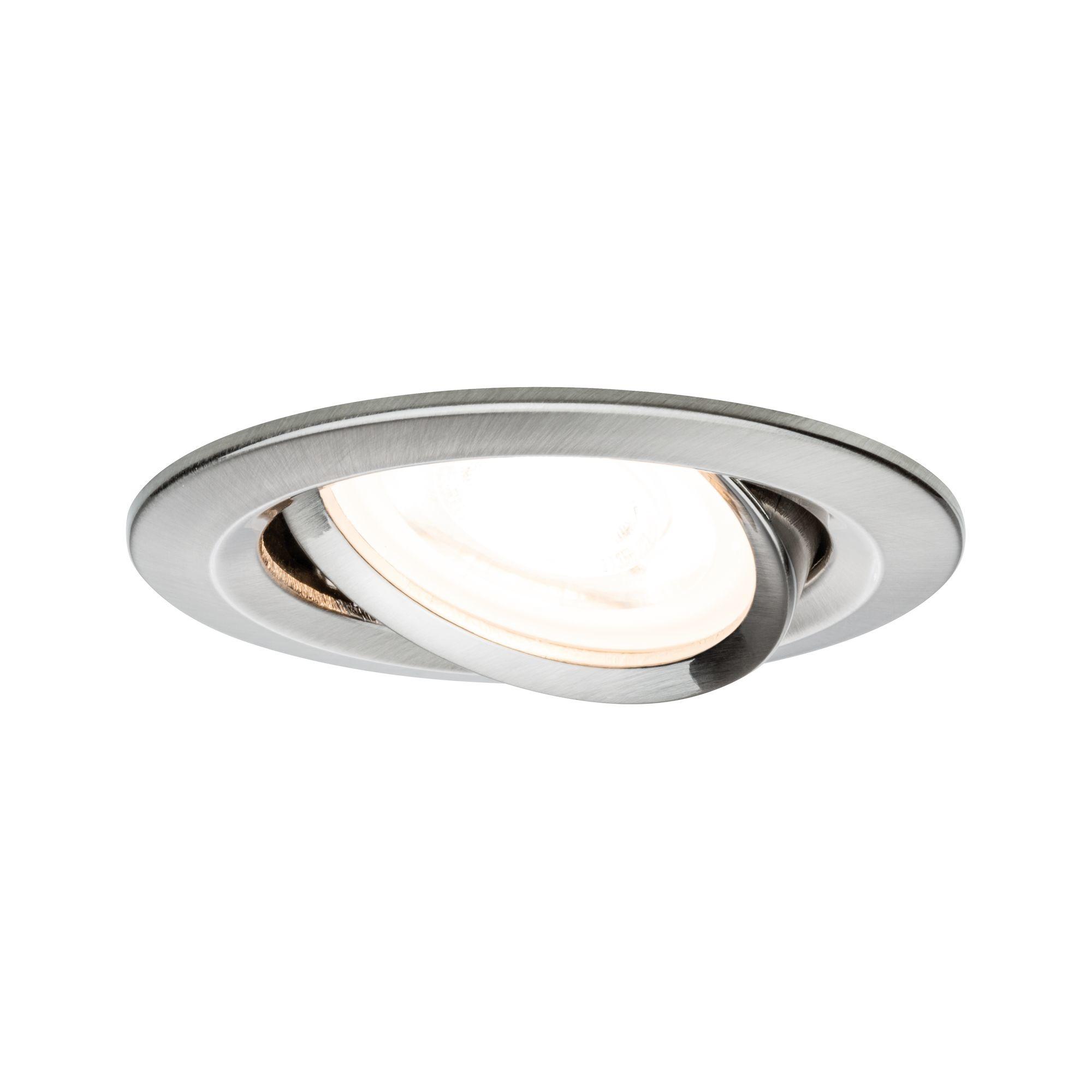 Paulmann EBL Set Nova rd schw LED 3stepdim 1x6,5W230V GU10 51mm Eisen geb/Alu