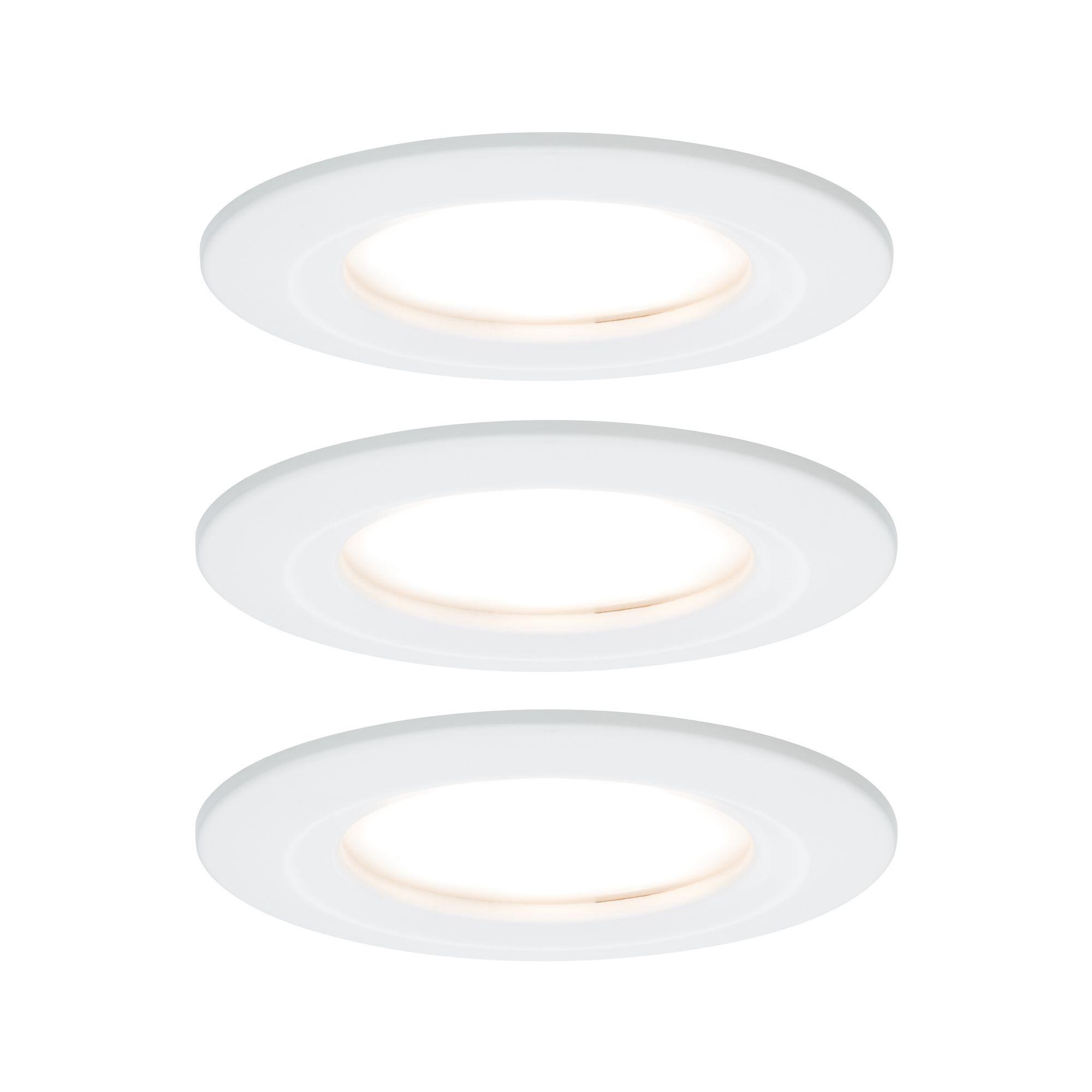 Paulmann EBL Set Nova Coin rund starr LED 3x6,5W2700K 230V Weiß matt/Alu